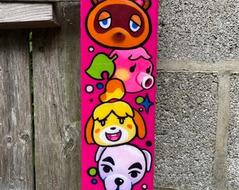 Animal Crossing Wood Plaque Painting