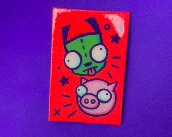 Gir & Pig BFF Original Canvas Board