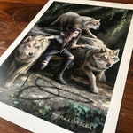 Power of Three A3 signed art print
