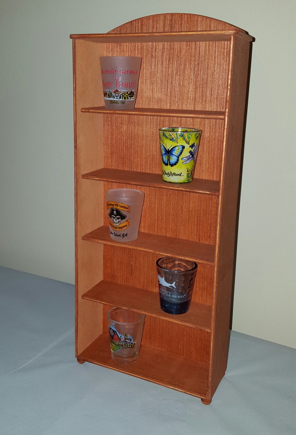 Display Shelves For Collectibles >> Stained Display Shelves Collectible Display Collectible Shelves Wooden Shelf Tabletop Display Craft Show Display Country Decor