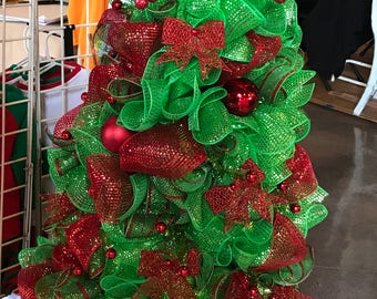 36 pre lit deco mesh christmas tree mesh tree pre lit christmas tree lighted christmas tree holiday decor christmas decoration