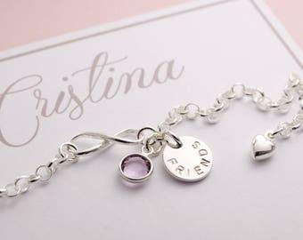 Friends Bracelet Infinity, 925 sterling silver
