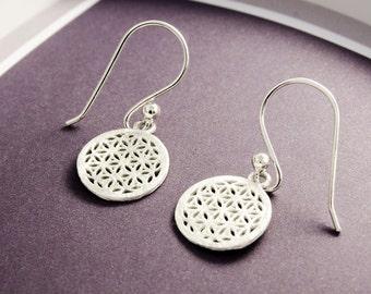 Sweet earrings 925 Sterling Silver Flower of life