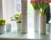 Textured Cylinder Vase #34