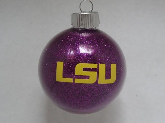 image 0 - LSU Glitter Christmas Ornament Etsy