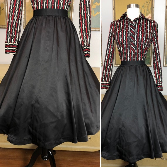 1980s Vintage Skirt by Luis Estevez -- Wonderfully