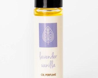Lavender Vanilla Oil Perfume, Lavender Perfume, Natural Perfume, Handmade Perfume, Travel Perfume, Roll-On Perfume, Essential Oils