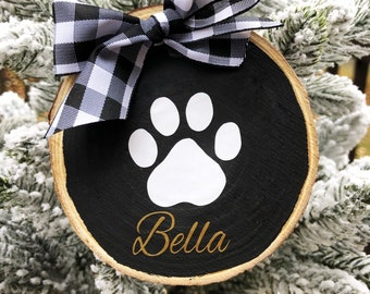 Personalized Pet Ornament, Pet Gift, Dog Ornament, Wood Ornament, Custom Dog Ornament, Rustic Ornament, Dog Lover Gift