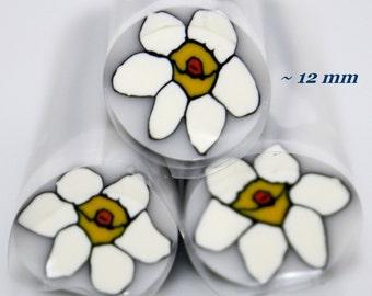 Narcissus flower polymer cane