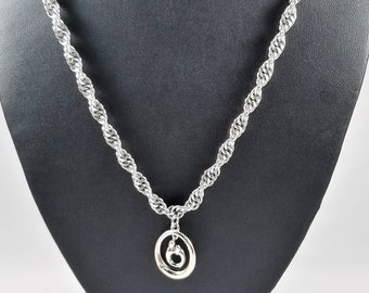 Spiral Chainmaille Necklace, Handmade Chainmail Jewelry, Mother's Day