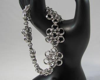 Japanese Flower Chainmaille Bracelet