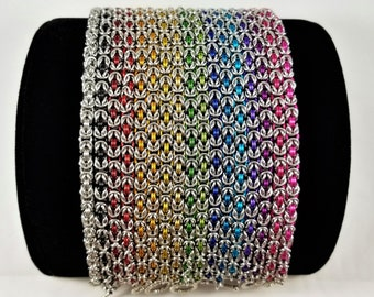 Micromaille Byzantine Chainmaille Bracelet, Handmade Chainmail Jewelry