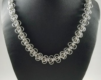 Roosa Chainmaille Necklace, Handmade Chainmail Jewelry