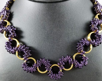 Coiled Chainmaille Choker, Handmade Chainmail Jewelry