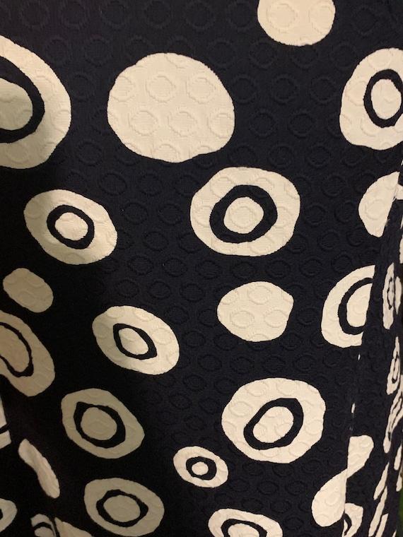 Vintage 1960's Tiki Orbs 60's Cotton Brocade Shif… - image 7
