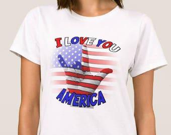 I Love You America - ASL T-Shirt