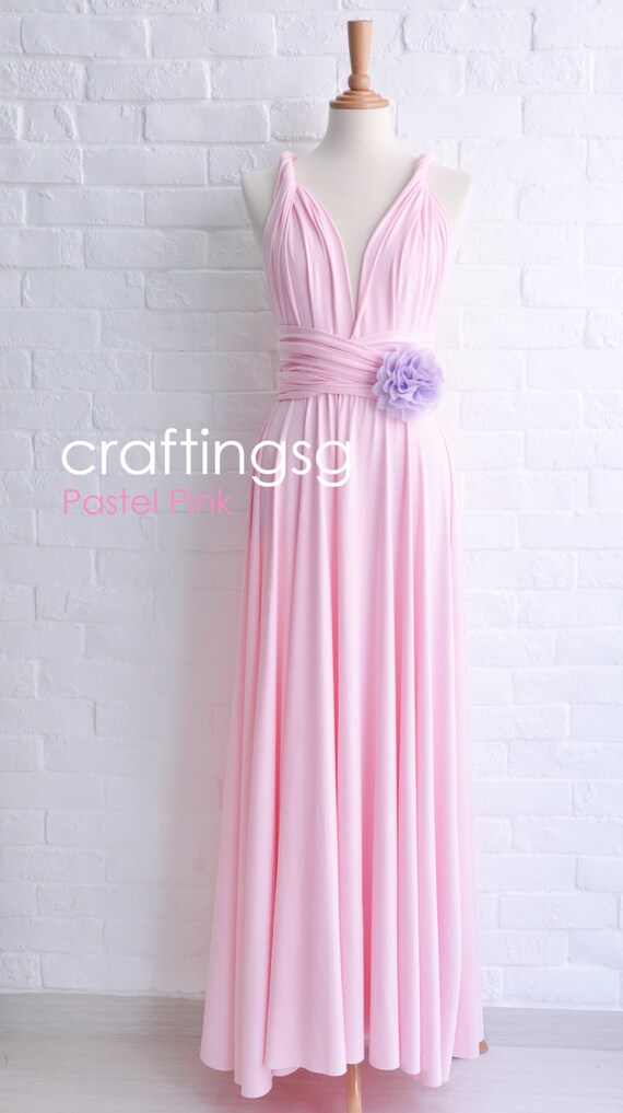 Bridesmaid Dress Pastel Pink Maxi Floor Length Infinity Etsy