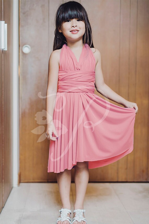 e66710bdf6 Junior   Mini Bridesmaid Dress Infinity Dress Peony