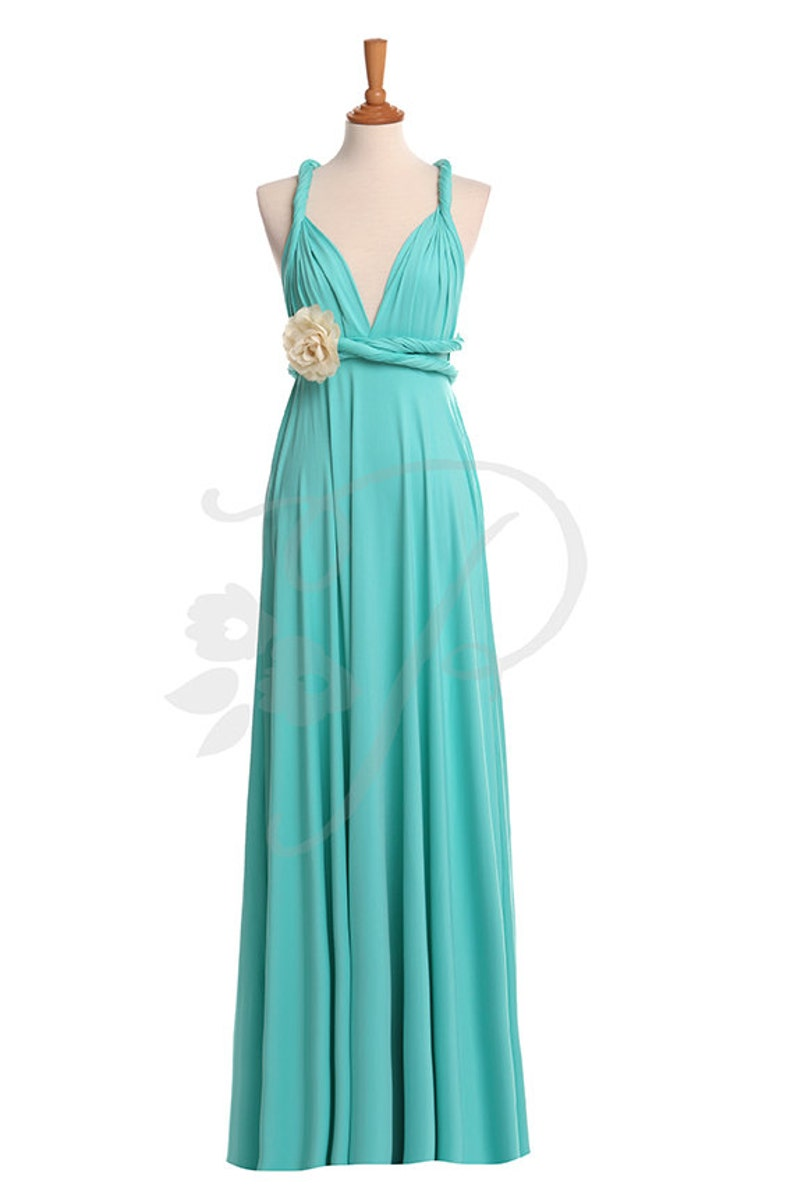 huge discount 367bf cd4c6 Abiti da damigella abito turchese Maxi abito, Infinity, Prom Dress, abito  Multiway, Convertible, maternità - 26 colori