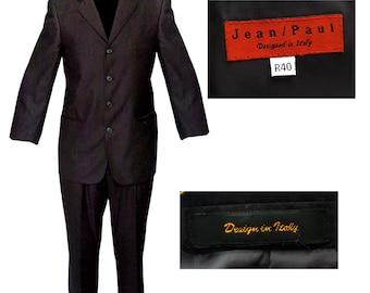 Black Jean Paul 4 Button Mens Suit / Mad Men Suit / Mod Suit 5FZ281Cx84