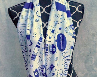 SALE -- Doctor Who White Infinity Scarf