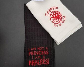 Game of Thrones Inspired Targaryean Kitchen Towel Set
