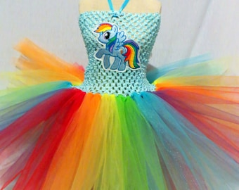 Small Rainbow Pony Tutu Dress