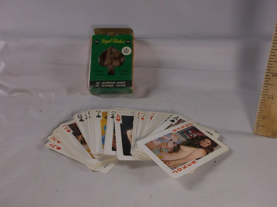 Naked girl nude stripper playing card poker deck adult bachelor party