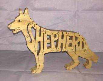 Shepherd dog wooden jigsaw puzzle