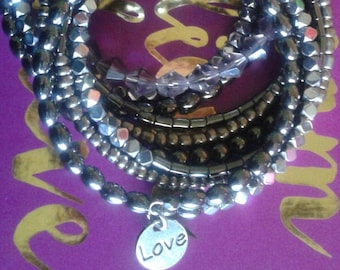 Smokey Eyes - Memory Wrap Bracelet
