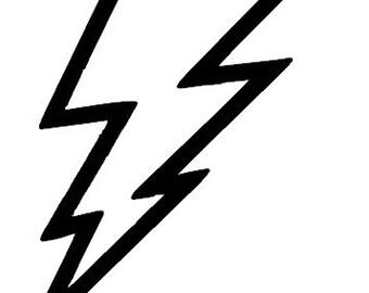 lightning bolt decal etsy