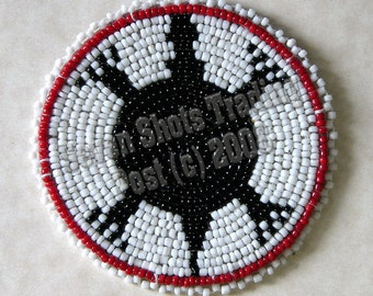"3-Inch Turtle Beaded Rosette - ""NEW"""