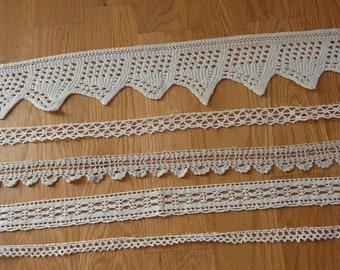 Blanc Avec Rose 5//8 pouces large bordure en dentelle-Vente par la cour