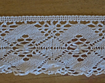 wide crochet lace - 2 lengths of vintage French lace over 4 meters long