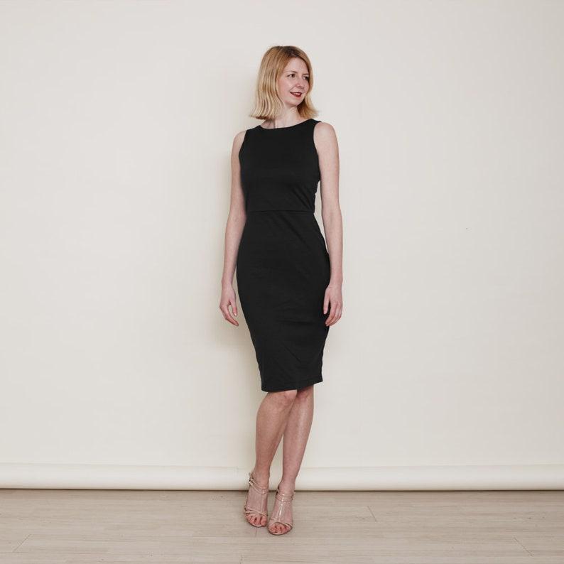 8004f9249a26 Marilyn sera matita vestito nero. Abito tubino nero. Abito