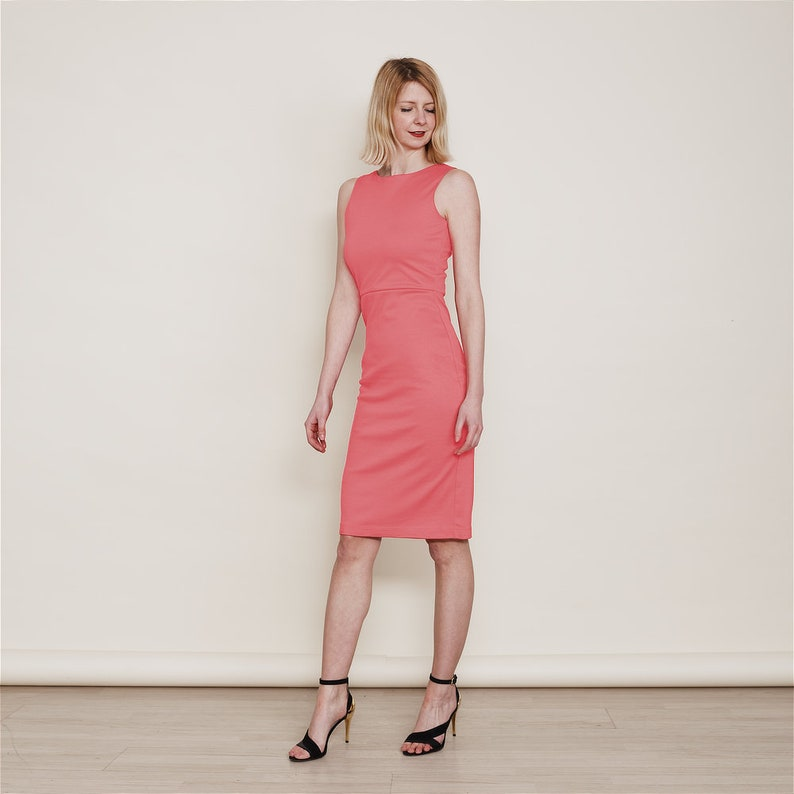 d247b8ecff Marilyn Coral Pink Bridesmaid Dress. Summer Wedding Dress.