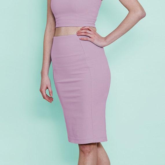 96aa880cb54 Pastel Purple Pencil Skirt. High Waist Pastel Pencil Skirt. Formal Occasion  Past... Pastel Purple Pencil Skirt. High Waist Pastel Pencil Skirt.