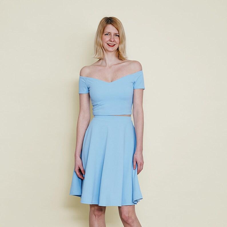 Coco Off Shoulder Wedding Dress. Pastel Wedding Outfit. Pastel  b10a3510f