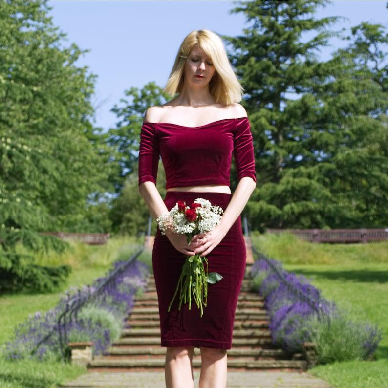 Robe mariée couleur velours bordeaux Stylecamp