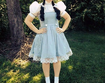 """Wizard of Oz Dorothy Outfit For Women Size 30"""" Chest to 42"""""""