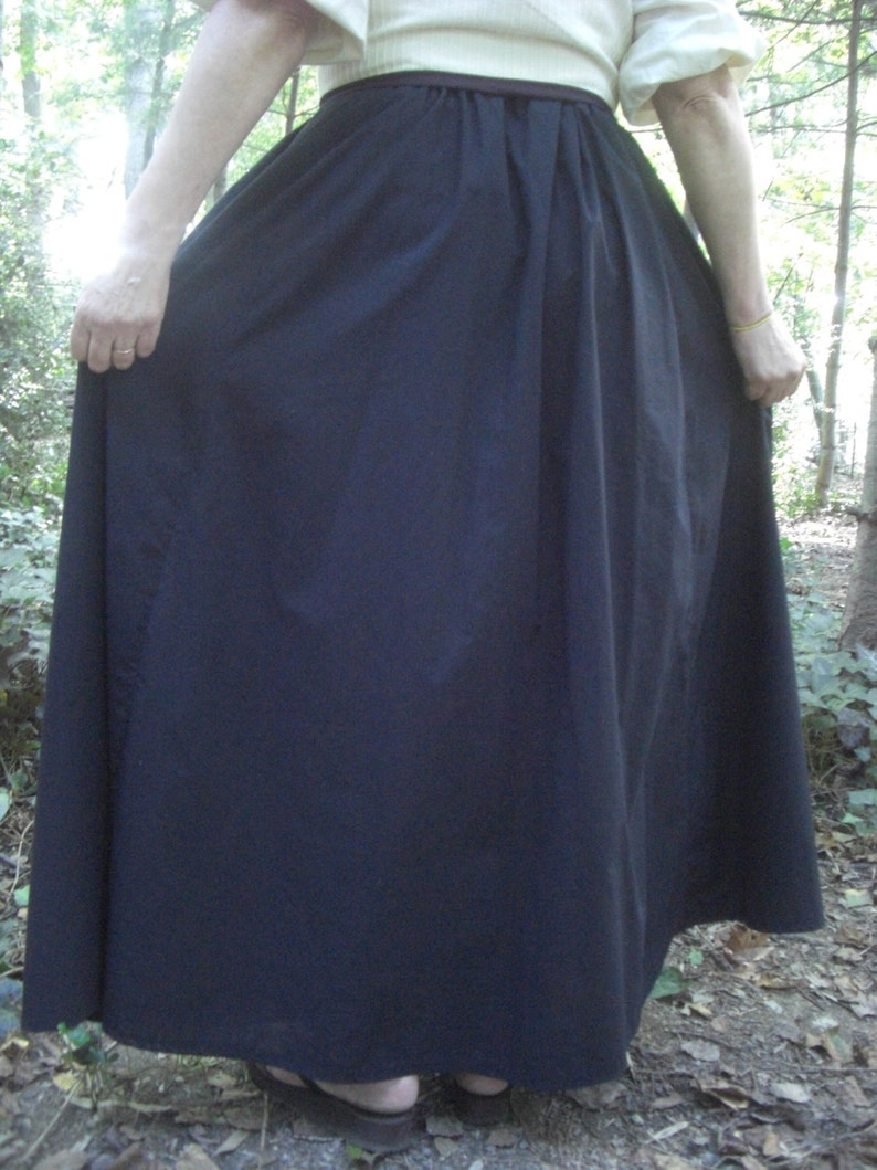 Pirate Fairy Celtic Underskirt Black Can be made to fit in any color Viking Renaissance Wench