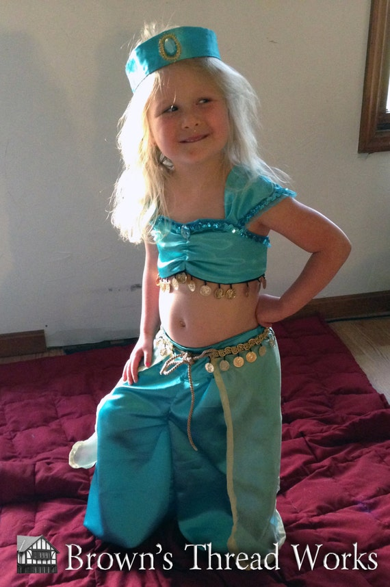 Jasmine Custom made to fit  BABIES size 3 month to 24 months Teal or Purple