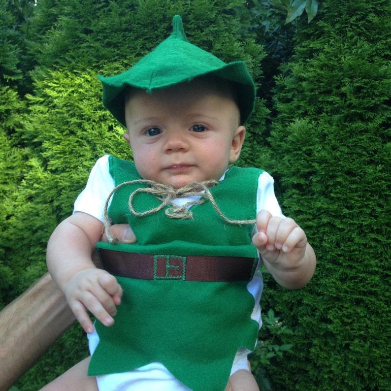 PETER PAN bebé Onesie zapatos y sombrero por encargo tallas 3  78980ca7640