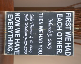 Father's Day Gift - First We Had Each Other Personalized Sign