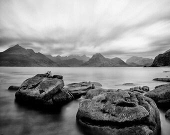 Isle of Skye, art, photography, wall art, original print, landscape, black & white photography
