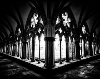 Salisbury Cathedral, art, photography, wall art, original print, landscape, black and white photography, Wiltshire