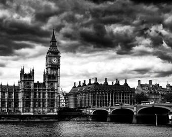 London, Beg Ben, art, photography, wall art, original print, landscape, black and white photography