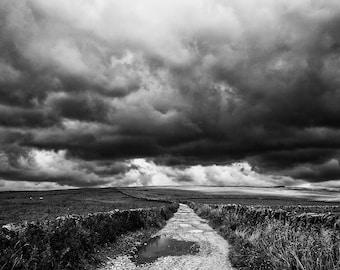 Storm Road, Castleton, Peak District, art, photography, wall art, original print, landscape, black and white photography
