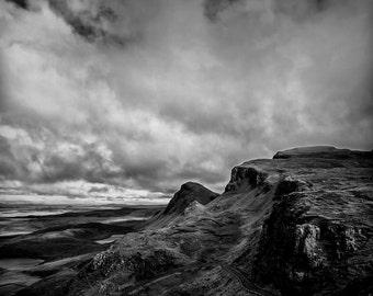 Winding Road - Isle of Skye, art, photography, wall art, original print, landscape, black and white photography