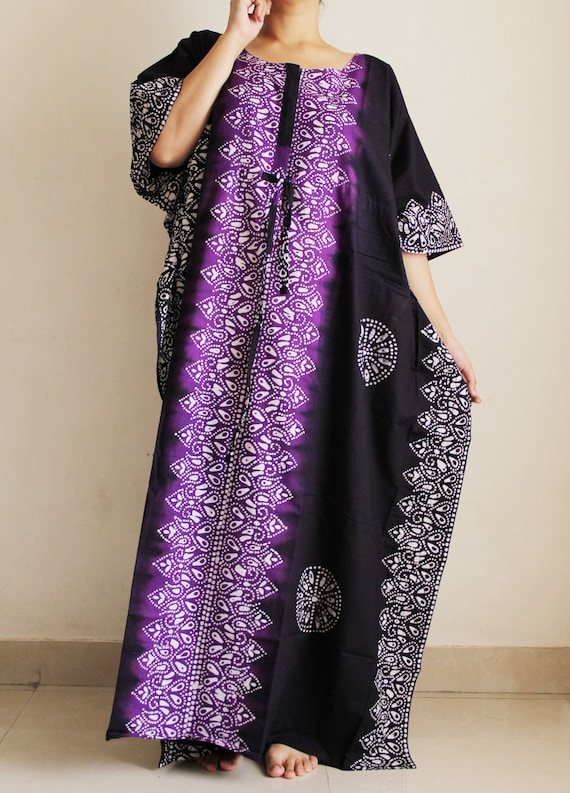 Zippered kaftan nursing gown Maternity caftan Cotton | Etsy
